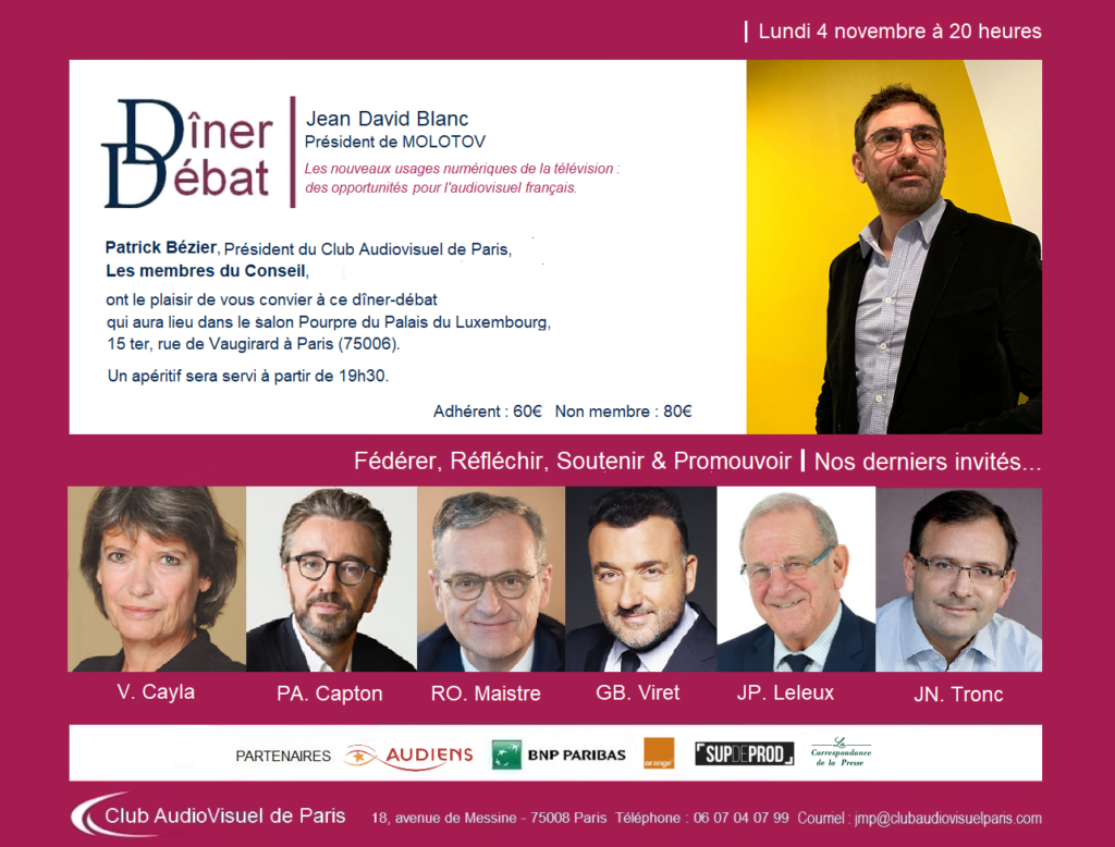 Invitation Jean-David Blanc